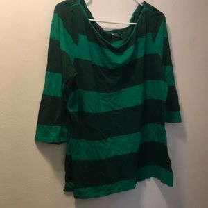 Old Navy Two-Toned Green Striped Shirt